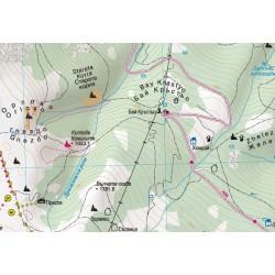 Туристическа карта Витоша и Лозенска планина